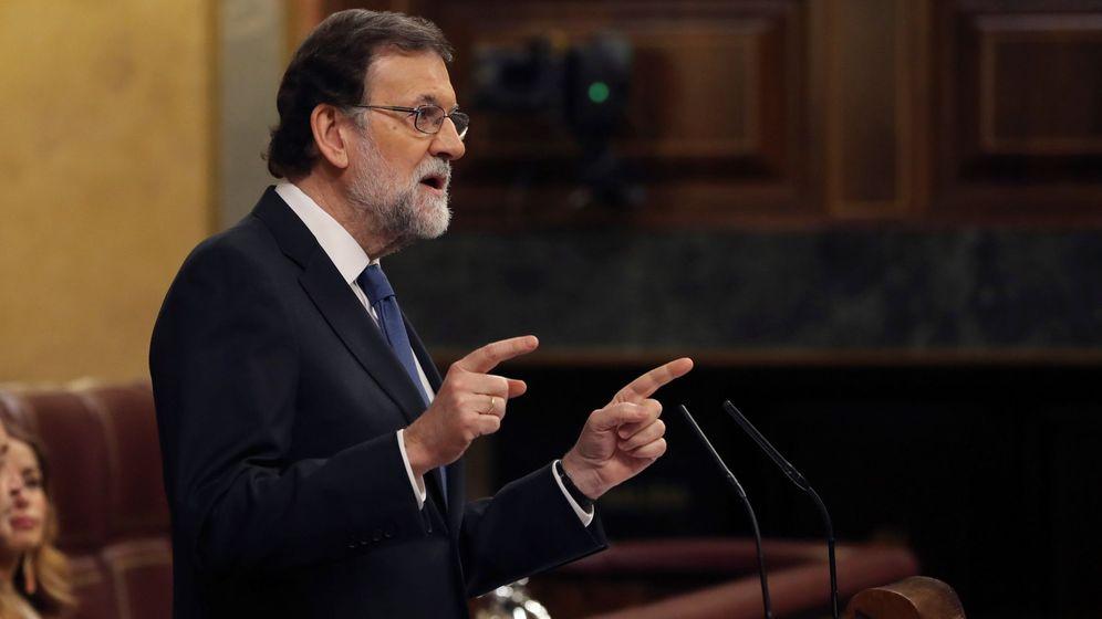 Foto: El presidente del Gobierno, Mariano Rajoy, durante el debate de las pensiones. (EFE)