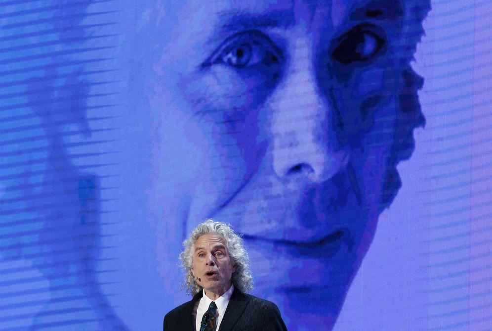 Foto: Steven Pinker durante una conferencia en Seúl en 2016. (EFE)