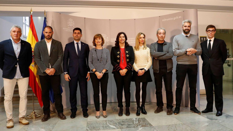 Reunión en el Ministerio de Trabajo de todas las partes que negocian el Convenio Colectivo del Fútbol Femenino. (EFE)