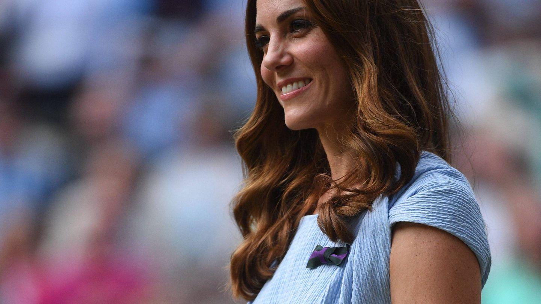 Kate Middleton, en la final de Wimbledon a finales de julio. (Cordon Press)