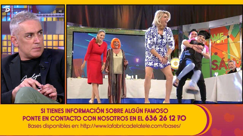 Kiko Hernández habla de Carmen Borrego en 'Sálvame'. (Telecinco)