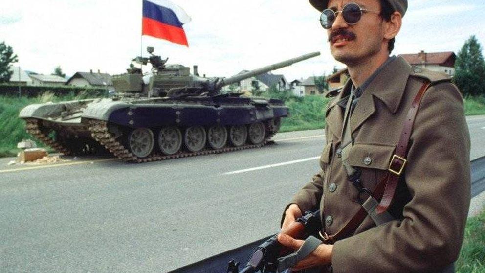La 'vía eslovena', en cifras: 10 días, 76 muertos, 31 tanques destrozados...