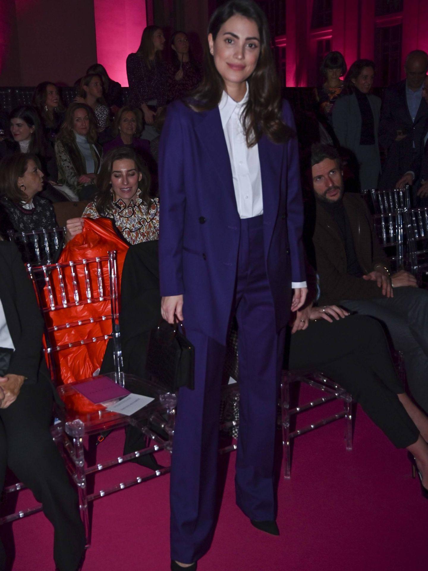 Sassa de Osma, en uno de sus últimos looks con traje de chaqueta. (Cordon Press)
