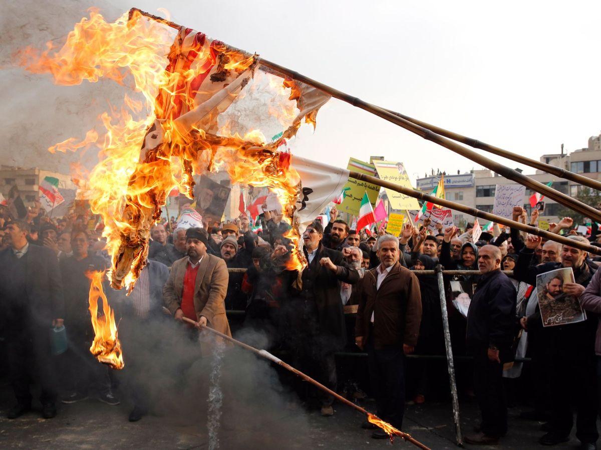 Foto: Protestas en Irán. (EFE)