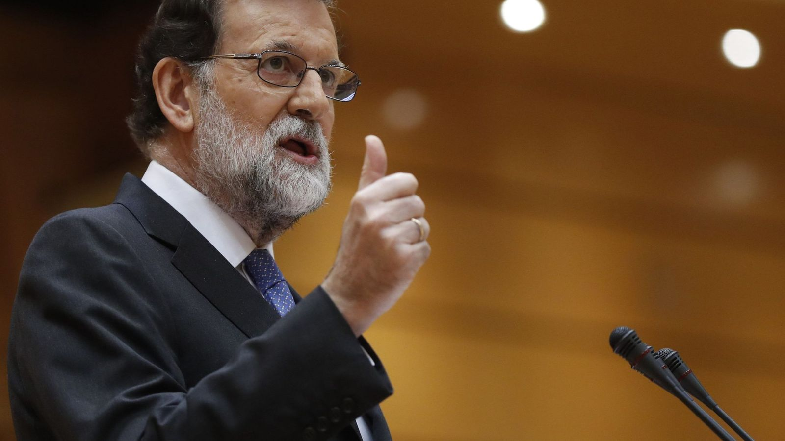 Foto: Pleno extraordinario del Senado (EFE)
