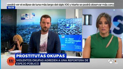 Reportera de 'Espejo público' denuncia haber sido agredida por unos okupas