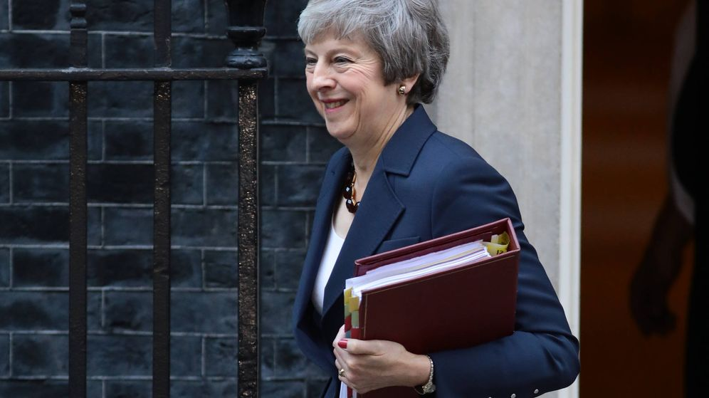 Foto: La primera ministra Theresa May a su salida de Downing Street este martes. (Getty Images)