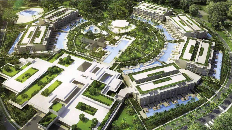 Foto: Vista panorámica del espectacular hotel.