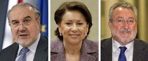 Foto: Solbes, Aguilar, Clos... ni pizca de nostalgia entre los 'ex' de Zapatero