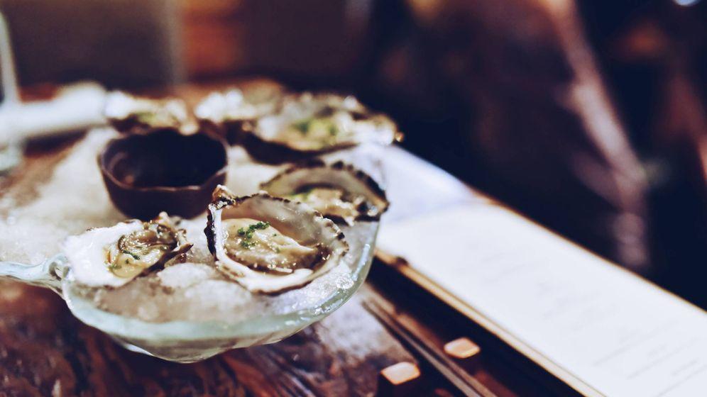 Foto: Un plato de ostras.