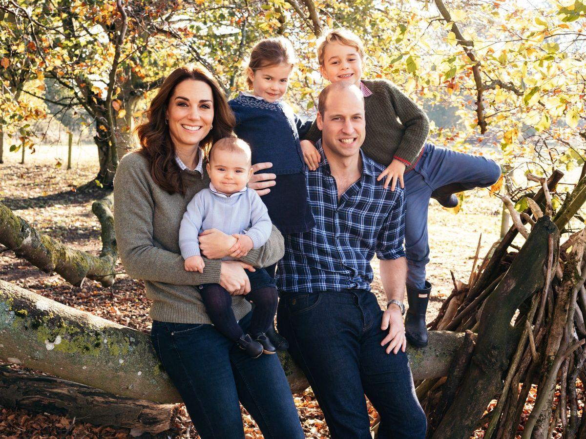 Foto: Los Cambridge y sus hijos en una imagen de 2018. (EFE)