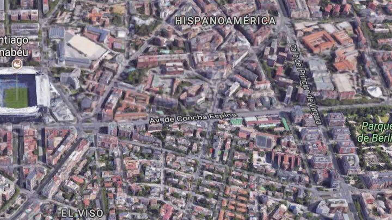 Barrio de Hispanoamérica. (Maps)