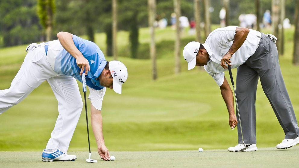 Sergio García y Tiger Woods, cara a cara en Augusta dos años después
