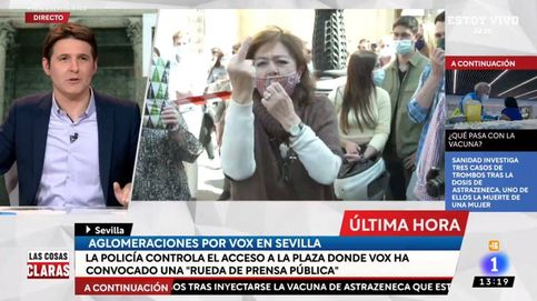 Señora, orden: insultos a Jesús Cintora y TVE en la manifestación de Vox en Sevilla