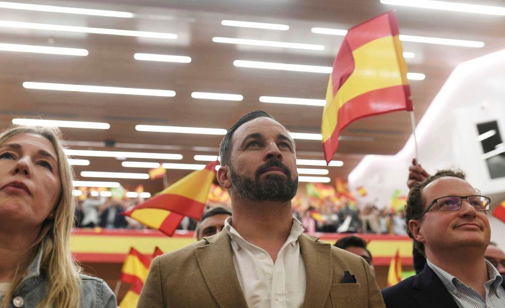 Foto: Santiago Abascal, durante un acto en Córdoba. (EFE)