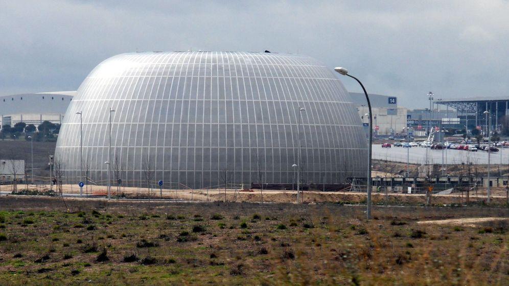 Foto: El único edificio construido en el Campus de la Justicia.