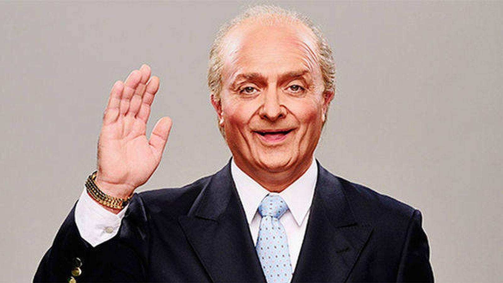 Foto: El cómico Toni Albà imitando al rey Juan Carlos (TV3)