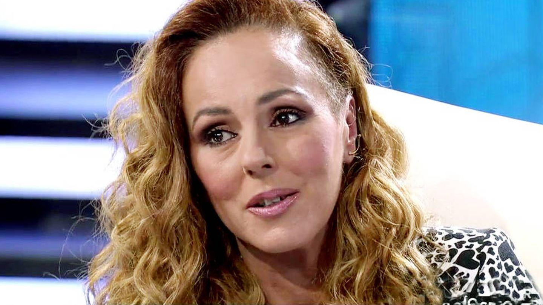 Rocío, durante la entrevista. (Mediaset)