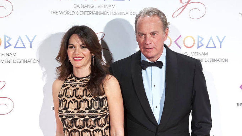 Fabiola Martínez y Bertín Osborne, en un evento en 2017. (Getty)