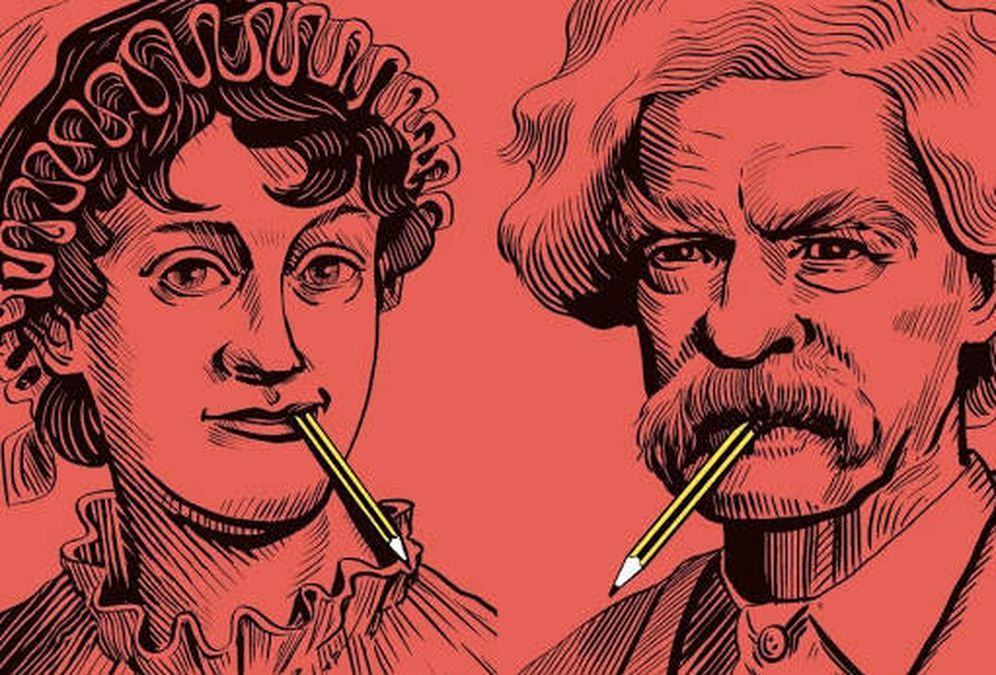 Foto: Jane Austen y Mark Twain