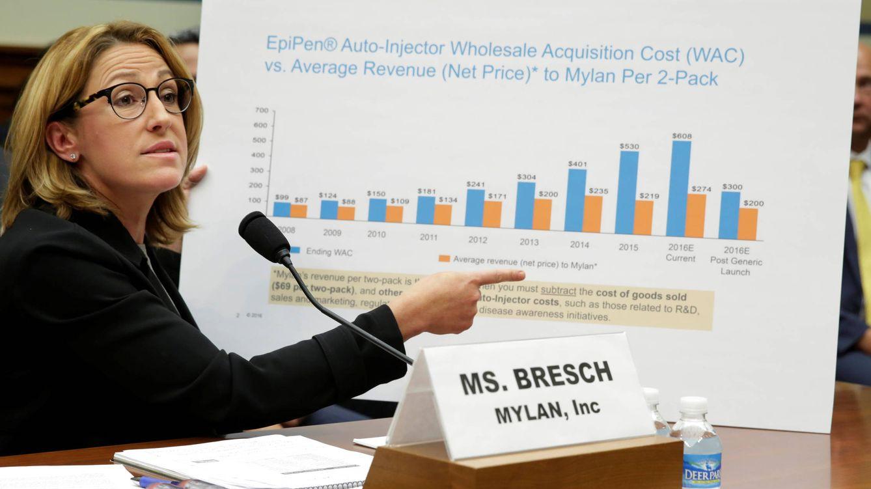 Foto: Heather Bresch, CEO de Mylan, testifica ante un comité gubernamental por el aumento del precio de Epipen el pasado mes de septiembre. (Reuters/Yuri Gripas)