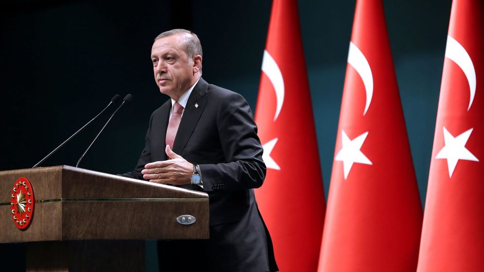 Foto: El presidente turco, Recep Tayyip Erdogan, hablando durante una conferencia de prensa tras una reunión de su gabinete en Ankara. (Efe)