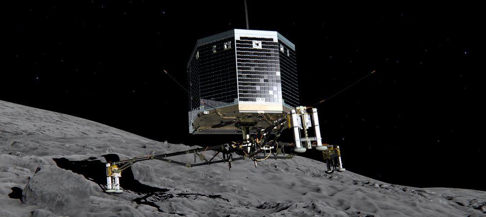 Foto: Recreación del aterrizaje de la Philae (ESA)