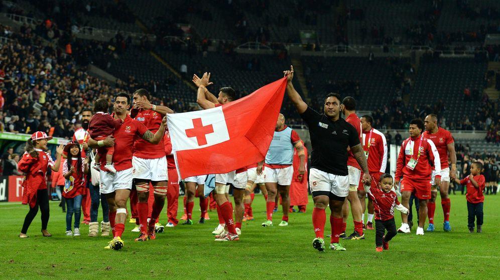 Foto: La selección de Tonga, durante la World Cup 2015 disputada en Inglaterra. (EFE)