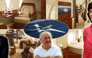 Botín y otros famosos con jet privado de 50 millones de euros