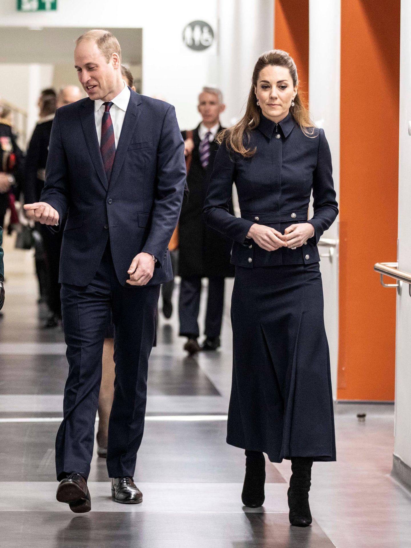 Los duques de Cambridge, esta mañana en Leicester. (Reuters)