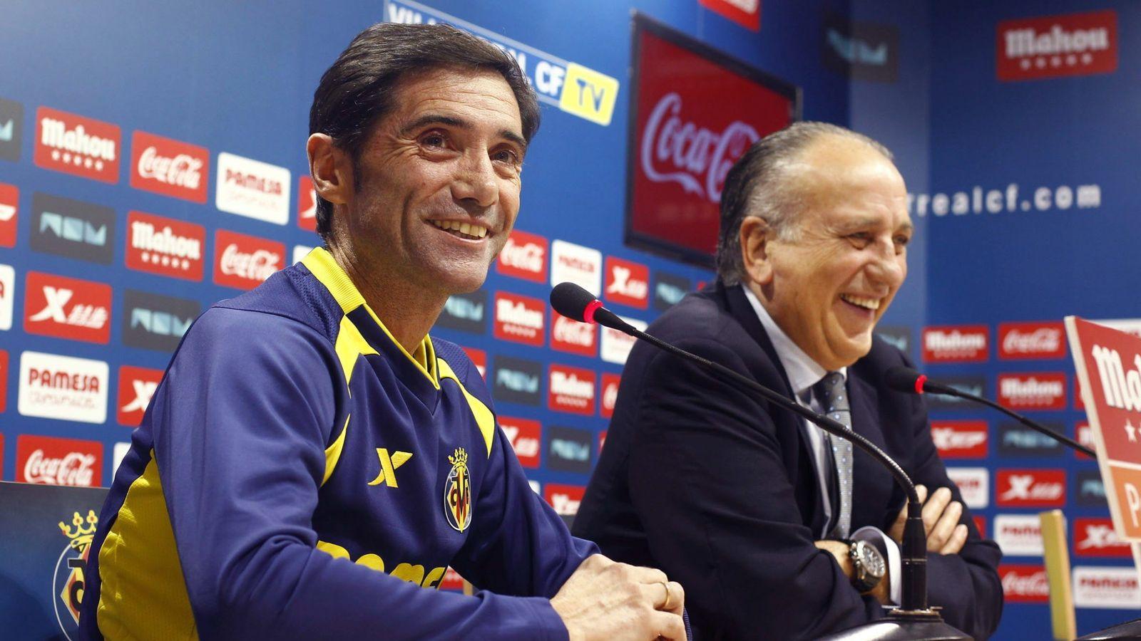 Foto: Marcelino y Roig el día de la renovación del contrato del entrenador (EFE)