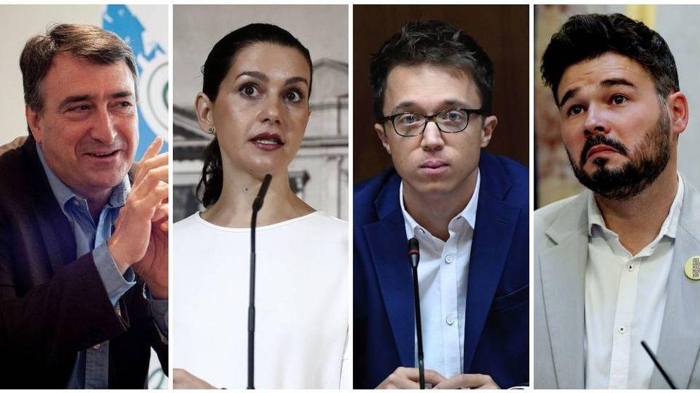 Foto: Algunos de miembros de las listas de los partidos para las elecciones el 10N. (El Confidencial)