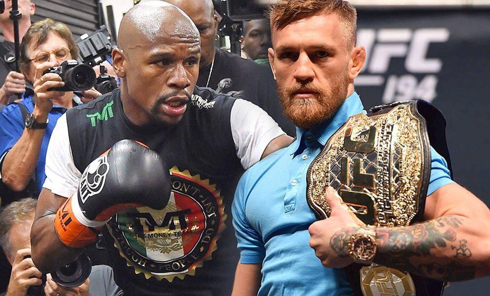 Foto:  McGregor y Mayweather en un montaje.