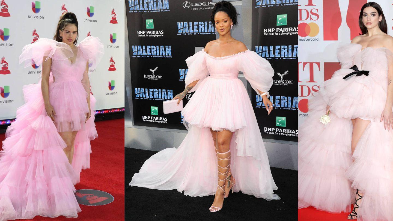 Rosalía, Rihanna y Dua Lipa. (Cordon Press y Getty)