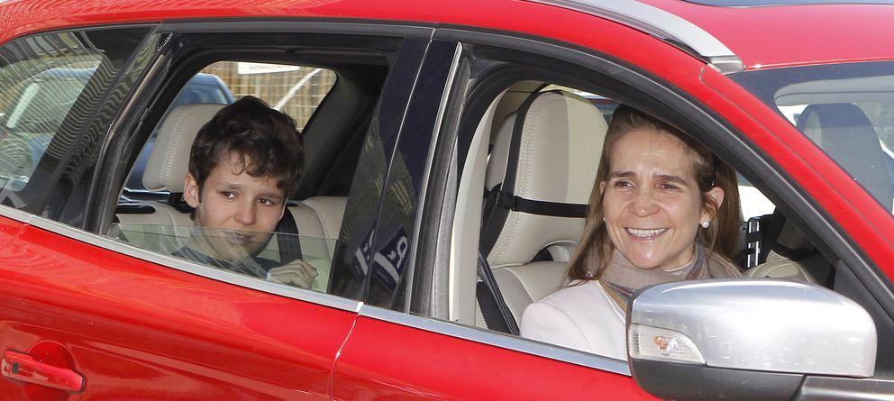Foto: La infanta Elena y su hijo Froilán en una imagen de archivo (Gtres)