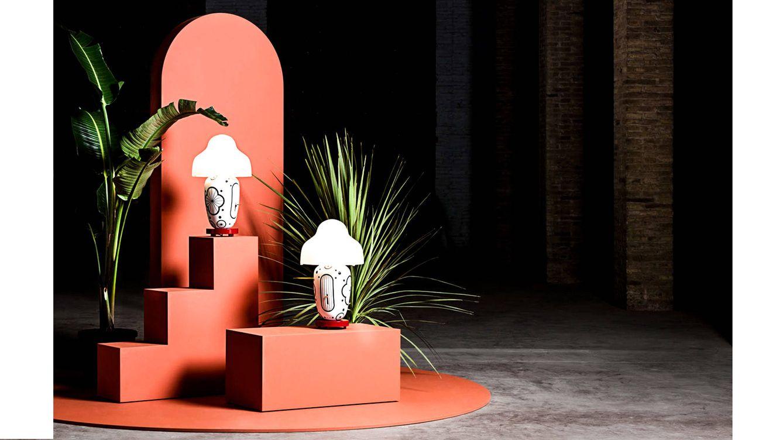 Foto: Montaje de la lámpara 'Chinoz' para su presentación en sociedad.