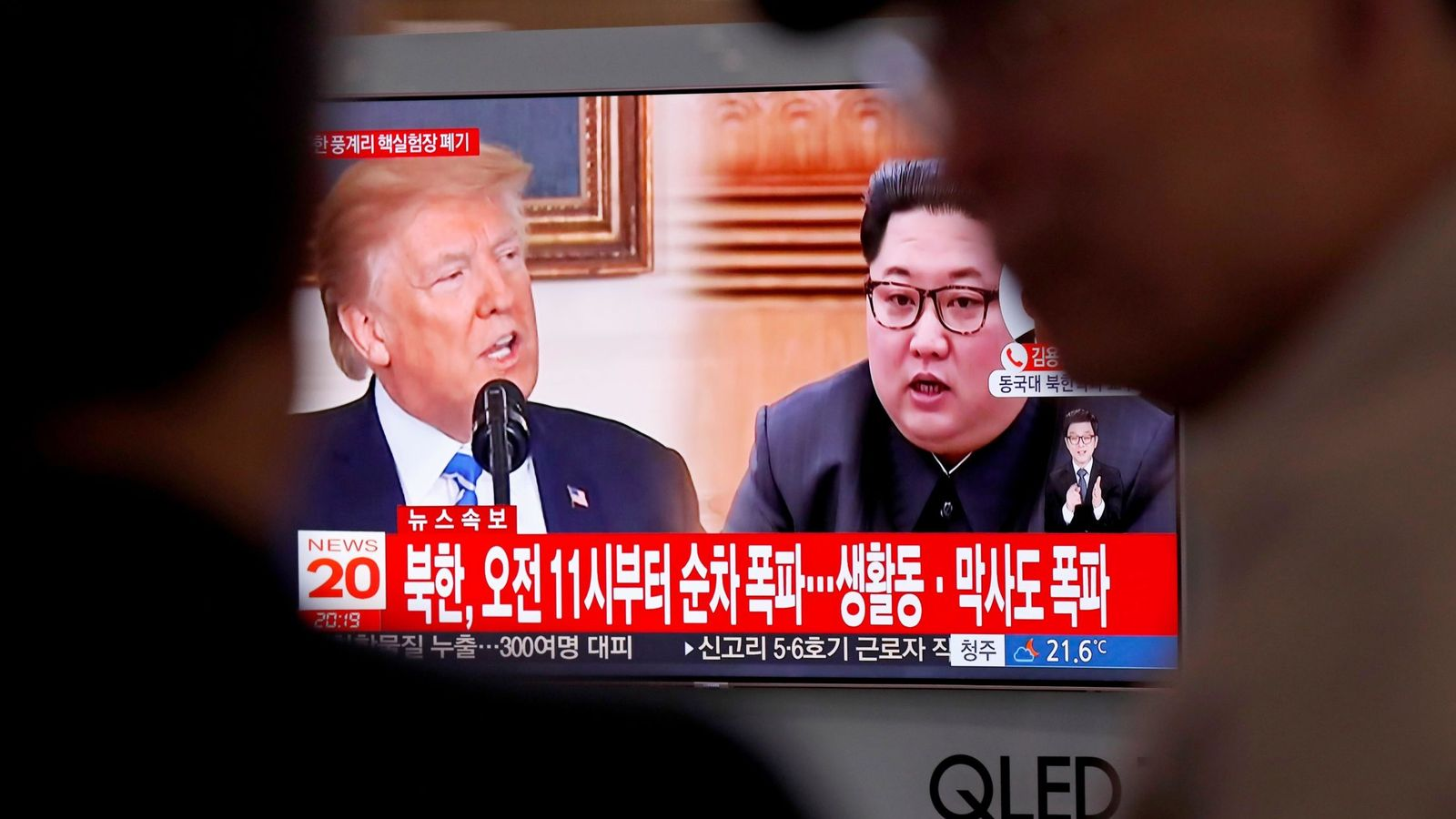 Foto: Varios surcoreanos siguen por televisión informaciones referidas a los líderes norcoreano, Kim Jong-un, y estadoundiense, Donald Trump, en la Estación de Seúl. (EFE)