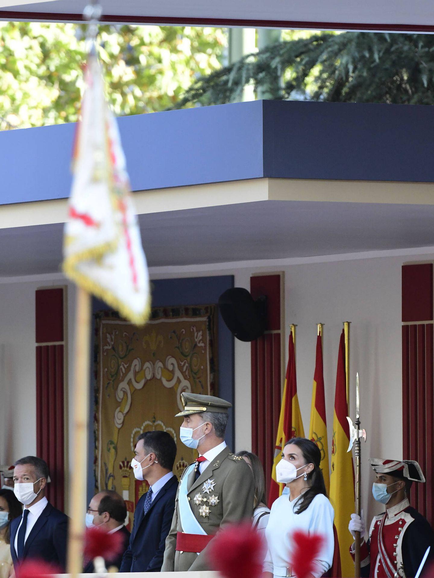 Los Reyes, en la tribuna junto al Presidente del Gobierno. (Limited Pictures)