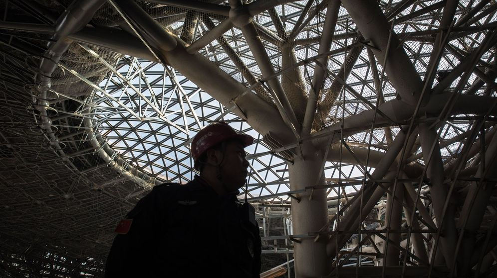 Foto: Obras de construcción del nuevo aeropuerto, en 2018. (EFE)