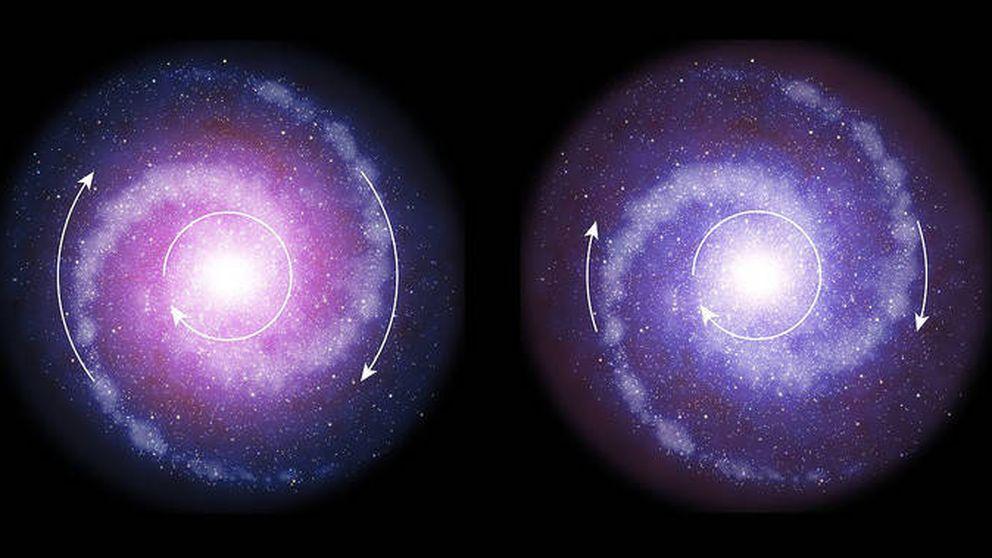 Las galaxias actuales tienen más materia oscura (y por eso giran más rápido)