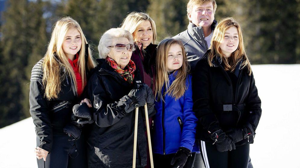 Foto: La familia real holandesa posa en la estación de esquí de Lech. (EFE)