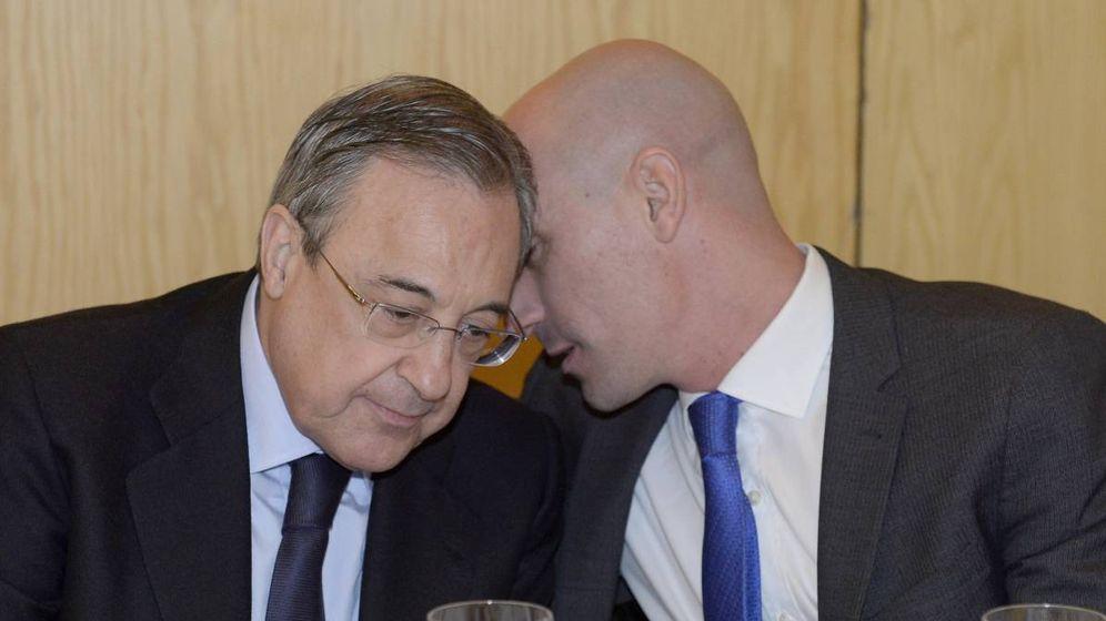 Foto: Florentino Pérez, presidente del Real Madrid, y Luis Rubiales, cuando aún no era presidente de la RFEF. (EFE)