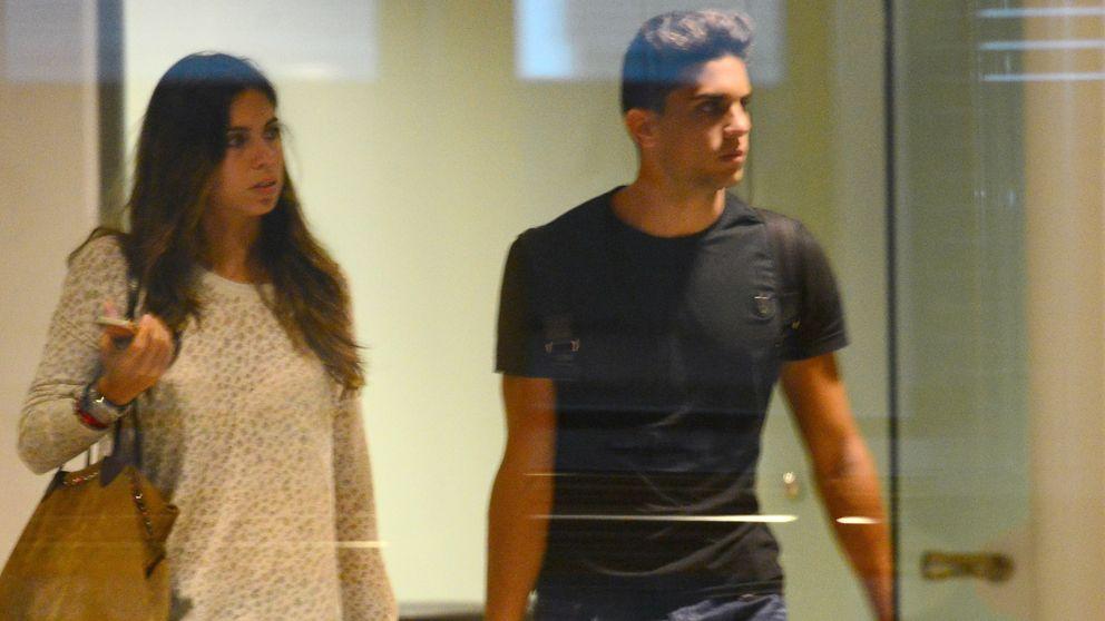 Marc Bartra y Melissa Jiménez, amor en el 'paddock'