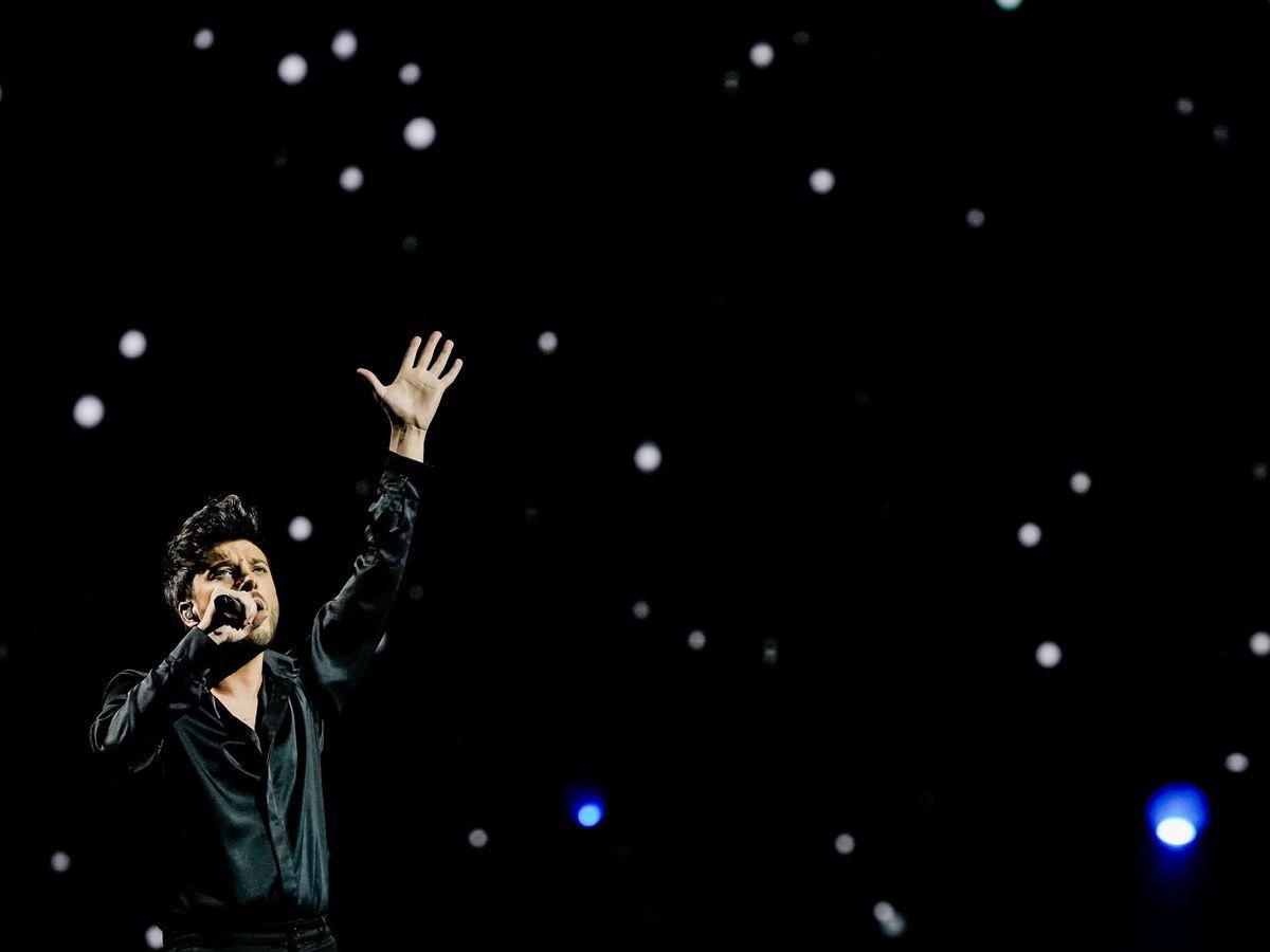 Foto: Blas Cantó, en 'Eurovisión 2021'. (EFE)