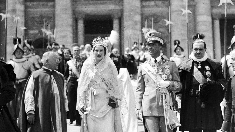Boda de María José y Humberto II de Saboya. (Cordon Press)