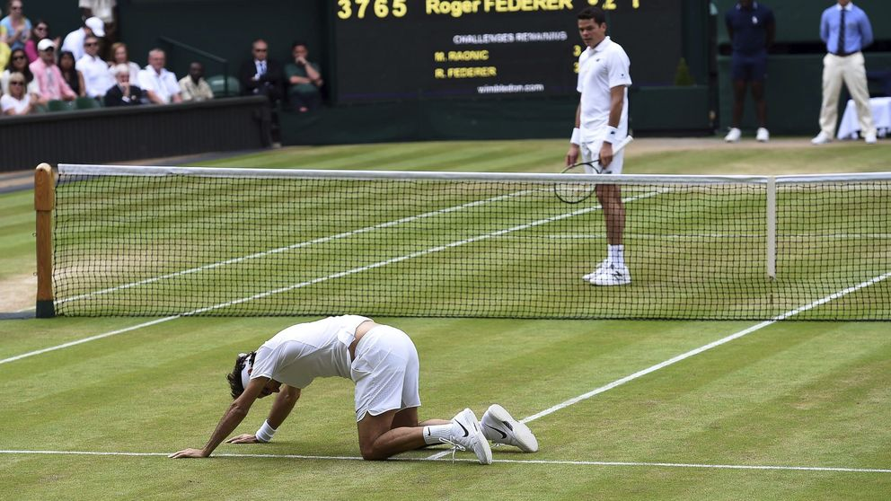 Raonic vence a Federer sin final y jugará la final de Wimbledon contra Murray