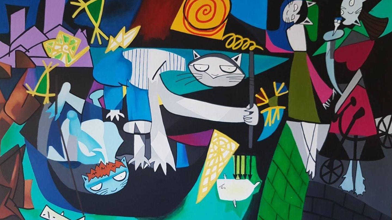 Sol Felpeto recreando a Picasso. Tú también puedes. (Cortesía)