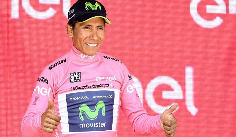 Foto: Nairo Quintana vuelve a ser el líder del Giro de Italia. (EFE)