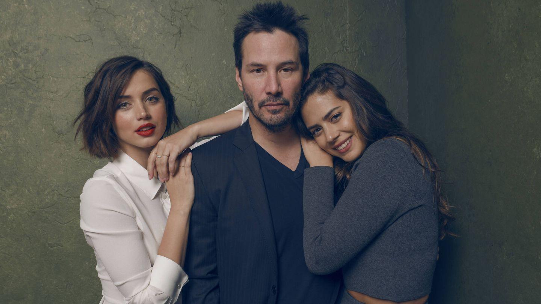 Ana de Armas, junto a Keanu Reeves y Lorenza Izzo en el festival de Sundance. (Getty)