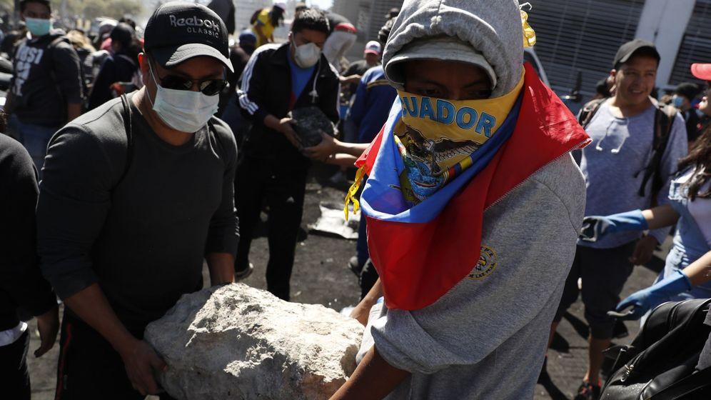 Foto: Protestas indígenas en Ecuador. (EFE)
